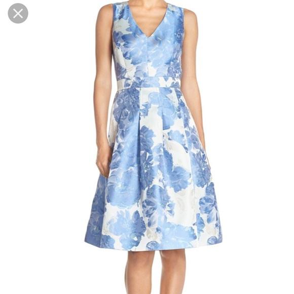 355bc4a5c Eliza J Dresses | Fit Flare Jacquard Floral Cocktail Dress | Poshmark